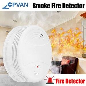 Image 2 - CPVan detektor dymu WiFi Alarm przeciwpożarowy Tuya/Smart Life APP detektor ognia czujnik dymu wysoka czułość niski poziom naładowania baterii przypomnienie