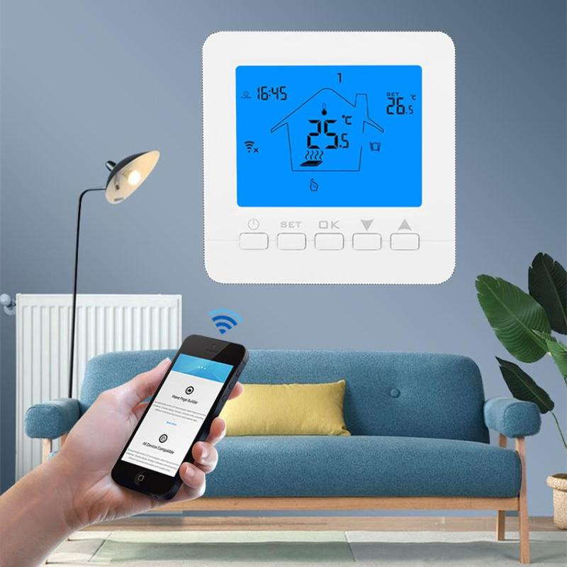 Dreamburgh WiFi Thermostat Temperature Electric Heating LCD Smart Digital Controller Alexa Google Home Control Thermoregulator