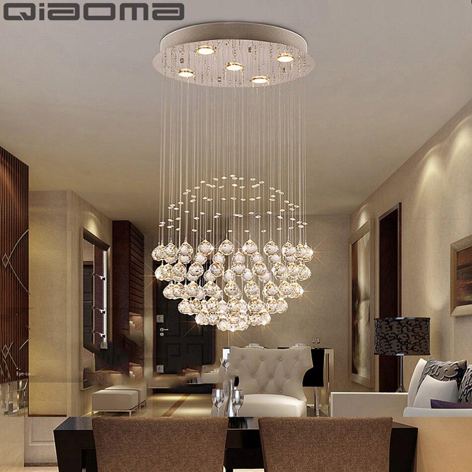 Moderne grand Lustre en cristal luminaire pour hall escalier Lustre longue spirale cristal lumière Lustre plafonnier