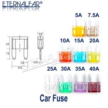 цена на Auto Blade Fuse Zinc Alloy Plastic Material Suv Mini Small Car Fuses 2A 3A 5A 7.5A 10A 15A 20A 25A 30A 35A 40A Clip Amp Truck