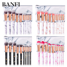 Makeup Brushes 10pcs/Set Soft Nylon Foundation Powder Blush Contour Concealer Blending Brushes Cosmetics Cosmetic Bag Tool Kit