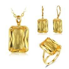 14k золотой свадебный набор украшений для женщин натуральный