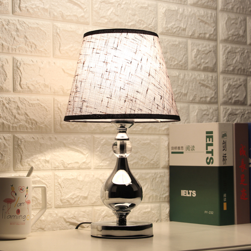 Lámpara de mesa LED de cristal para dormitorio lámpara de noche moderna para sala de estar Luz de mesa para la cama del dormitorio iluminación interior decorativa