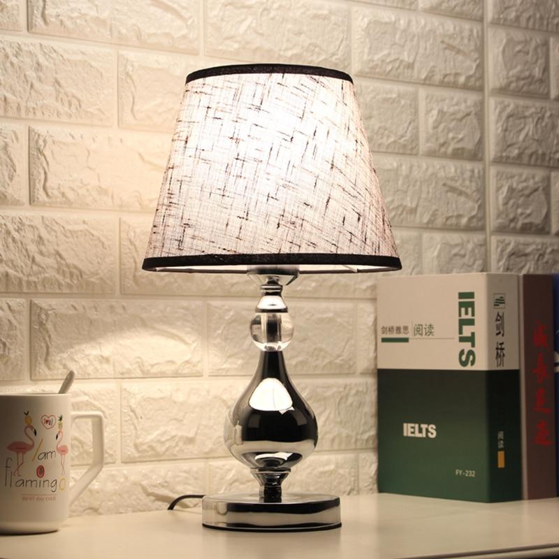 LED كريستال طاولة لغرفة النوم مصباح أباجورة طاولة غرفة المعيشة الحديثة ضوء لغرفة النوم السرير إضاءة داخلية ديكور