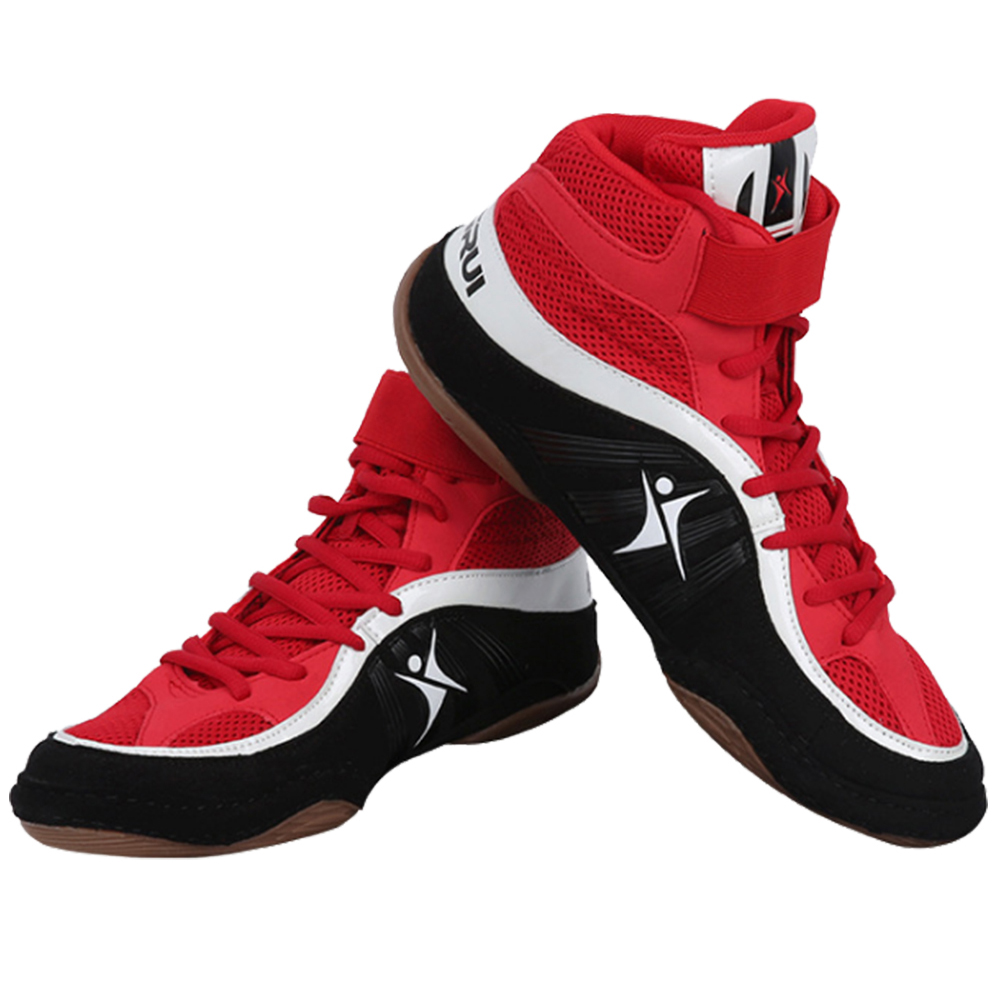 TaoBo Professional Unisex Wrestling Shoes For Men Boys High Top Boxing Sneaker Breathable Combat Shoe Sneakers Scarpe Boxe Uomo