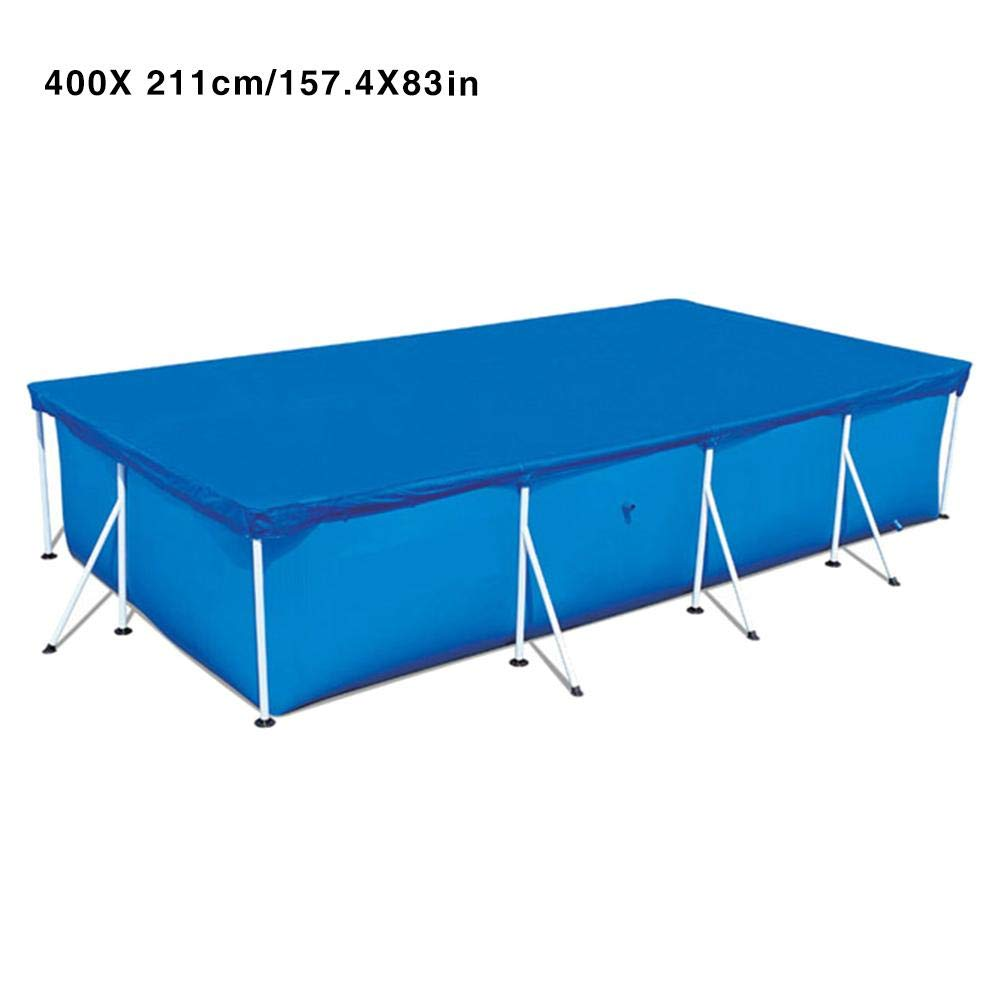 Keep Clean Rainproof Above Ground Rectangular Pool Cover Lightweight Durable Easy Use Thicken Home Garden Polyester Anti Dust