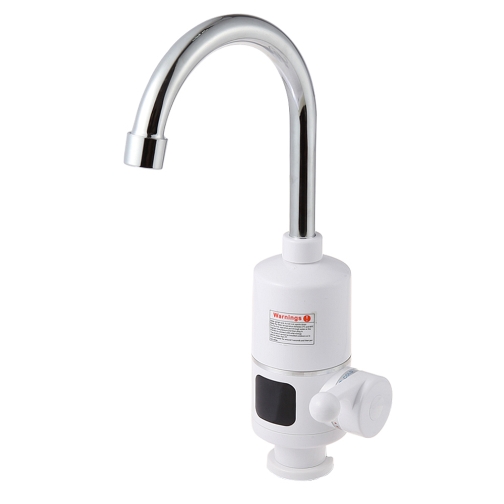 Kitchen Water Heater Shower Faucet Instantaneous Instant Heaters Tankless Water Heating Tap Eu Plug Home Kitchen Dishes Supplies