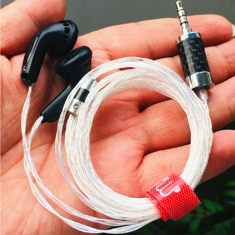 S600plus HiFi Flat Earphone with Pure Silver Cable Handmade 8 Strand Cable Upgraded Earbuds Audiophile Customized