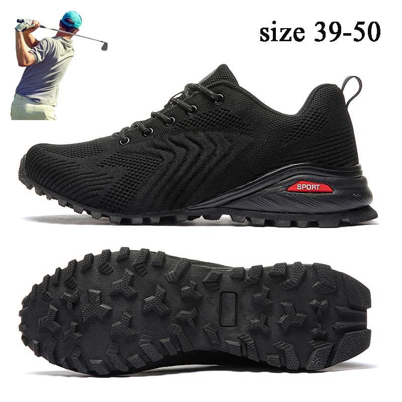 New Big Size 39-50 Golf Shoes for Men Breathable Walking Shoes Outdoor Anti Slip Comfortable Sprot Golf Sneakers Brand
