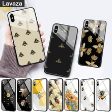 WEBBEDEPP Cartoon animal bee Glass Phone Case for Apple iPhone 11 Pro X XS Max 6 6S 7 8 Plus 5 5S SE