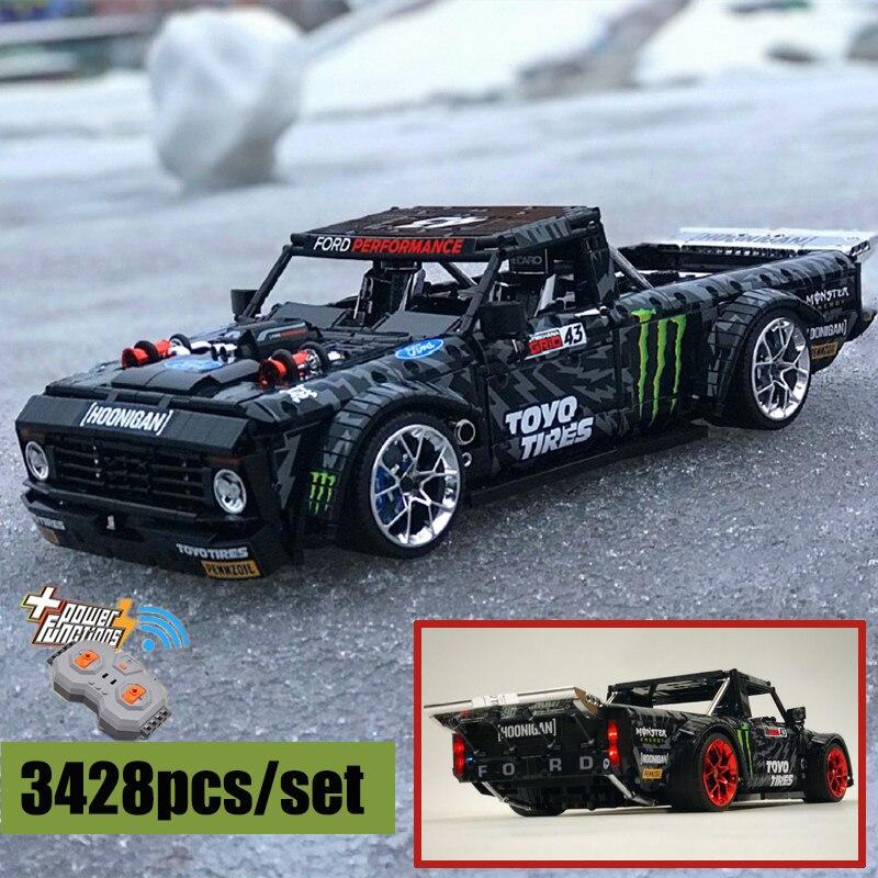 RC Motor Power Functions Ford Mustang Hoonicorn F-150 Technic Super Racing fit LeGINGlys MOC-34316 Building Blocks Bricks Toys
