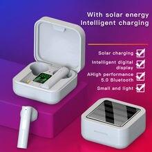 Зарядное устройство на солнечной батарее наушники вкладыши tws