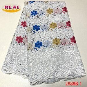 Image 3 - Африканская Хлопковая кружевная ткань NIAI 2020, Высококачественная швейцарская вуаль, кружево в Швейцарии, швейцарская вуаль с вышивкой, кружевная ткань