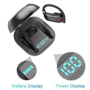 Image 3 - Caletop sport bezprzewodowe słuchawki zaczep na ucho słuchawki douszne IPX5 wodoodporne słuchawki douszne z mikrofonami dla iphonea dla Xiaomi