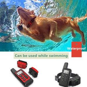 Image 4 - 500m כלב אימון צווארון עמיד למים נטענת שלט רחוק לחיות מחמד להפסיק לנבוח עם LCD תצוגה עבור כל גודל 40% הנחה