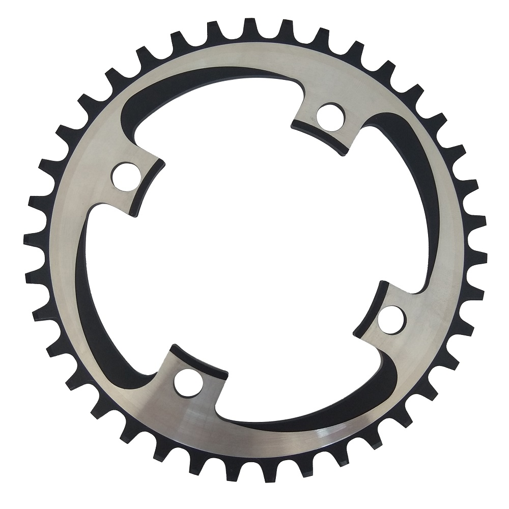 TRUYOU Round Narrow Wide Chain Ring 34T/36T/38T/40T/<font><b>42T</b></font> 104 BCD MTB Chainring Bike Crankset Tooth Plate Chainwheel 10/<font><b>11</b></font> Speed image