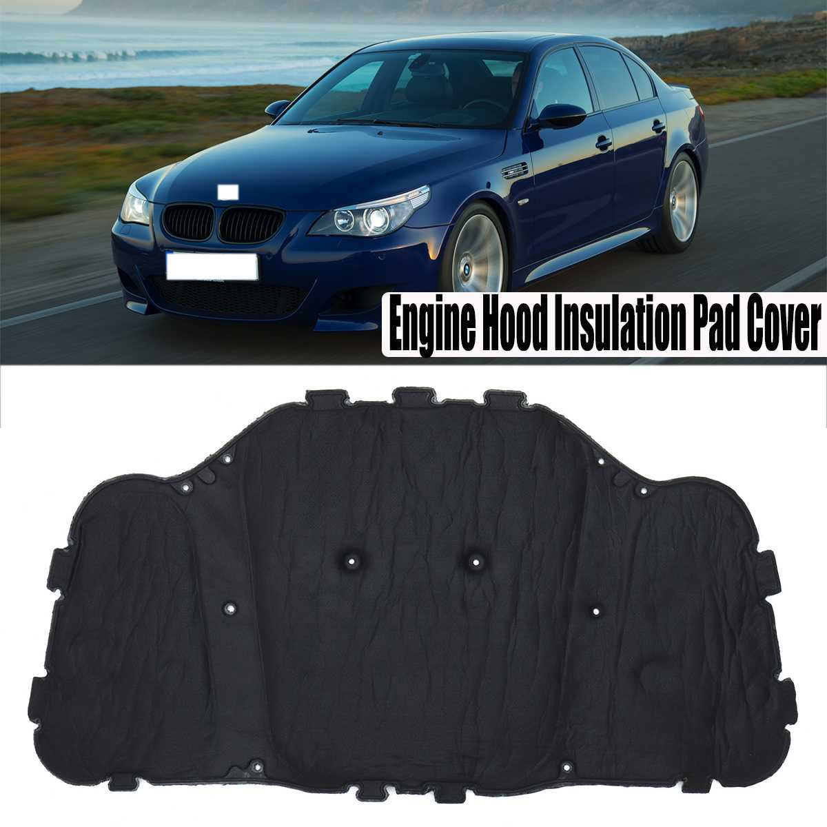Noise Reduction Insulation Pad Car Stereo Noise Heat Insulation Sound-proof Dampening Pad Mat For BMW E60 E61 525i 528i 530i