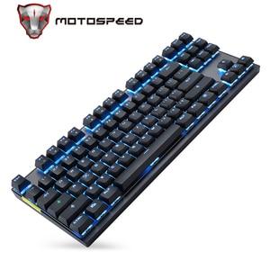 Image 1 - Motospeed Teclado mecánico inalámbrico GK82 2,4G, modo Dual, 87 teclas, mini teclado, retroiluminado con LED, receptor usb