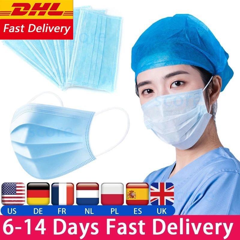 Surgical Mask Face Mask Medical Masks Mascherine Anti Virus Mouth Filter Anti Virus Disposable Mask Medical