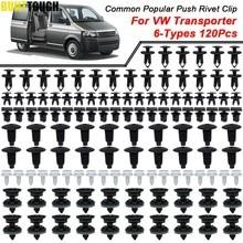 Paneles embellecedores de puerta de coche, Clips de carrocería, remache de Pin de empuje, retenedor de alfombra de techo Interior para VW Transporter T4 T5 T6, 6 tamaños, 120 Uds.