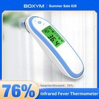 BOXYM-termómetro médico infrarrojo para el hogar, medidor Digital de temperatura corporal sin contacto para bebés y adultos