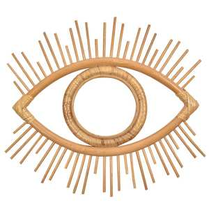 Decorative-Mirror Rattan Innovative Crafts Round Makeup-Mirror-Dressing Eye-Shape Bathroom