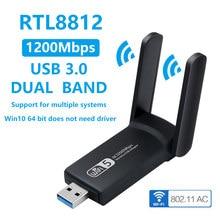 Usb sem fio wifi adaptador usb3.0 1900m 1200m 600m bluetooth 4.2 suporta win10 sistema sem motorista banda dupla gigabit usb wi-fi