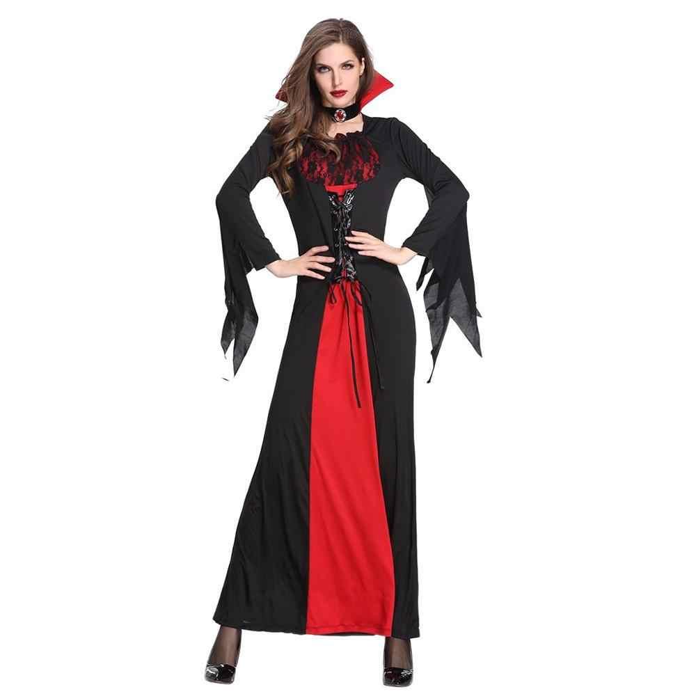 קוספליי תלבושות שחור ליל כל הקדושים EasterHorror משחק שמלות נשים בנות ליל כל הקדושים ערפד שד ביצועים משחק תחפושות # D