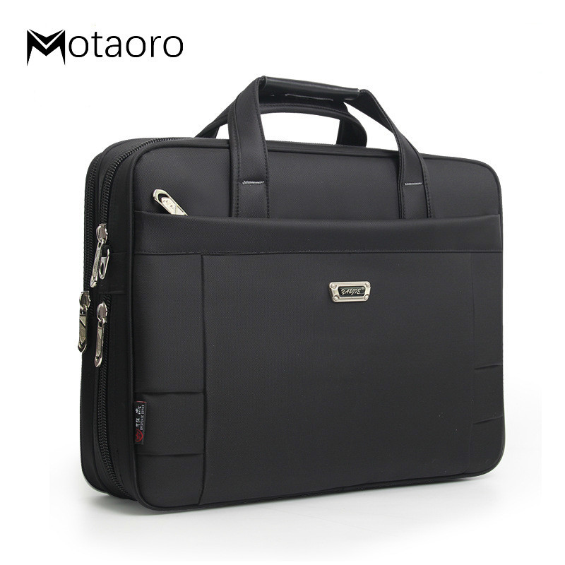 Business Classic Men's Shoulder Bag Work Handbags Men Briefcase Laptop Bags A4 Folder File Carrying Handbag Women Computer Bag