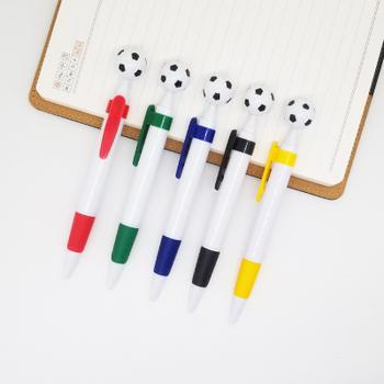 Wydrukuj swoje LOGO 500 sztuk promocyjny długopis plastikowy Kształt piłki nożnej tanie długopisy Kulkowe długopisy logo na zamówienie plastikowe długopisy mo41 tanie i dobre opinie CN (pochodzenie) Z tworzywa sztucznego 0 5mm Promocyjne pióra