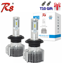 R8 Car V1 LED Headlight Bulbs All in One H1 H7 H4 880 9005 9006 D1S D2S D2R 9012 5202 72W 8000LM H13 9007 Beam Lights 6000K