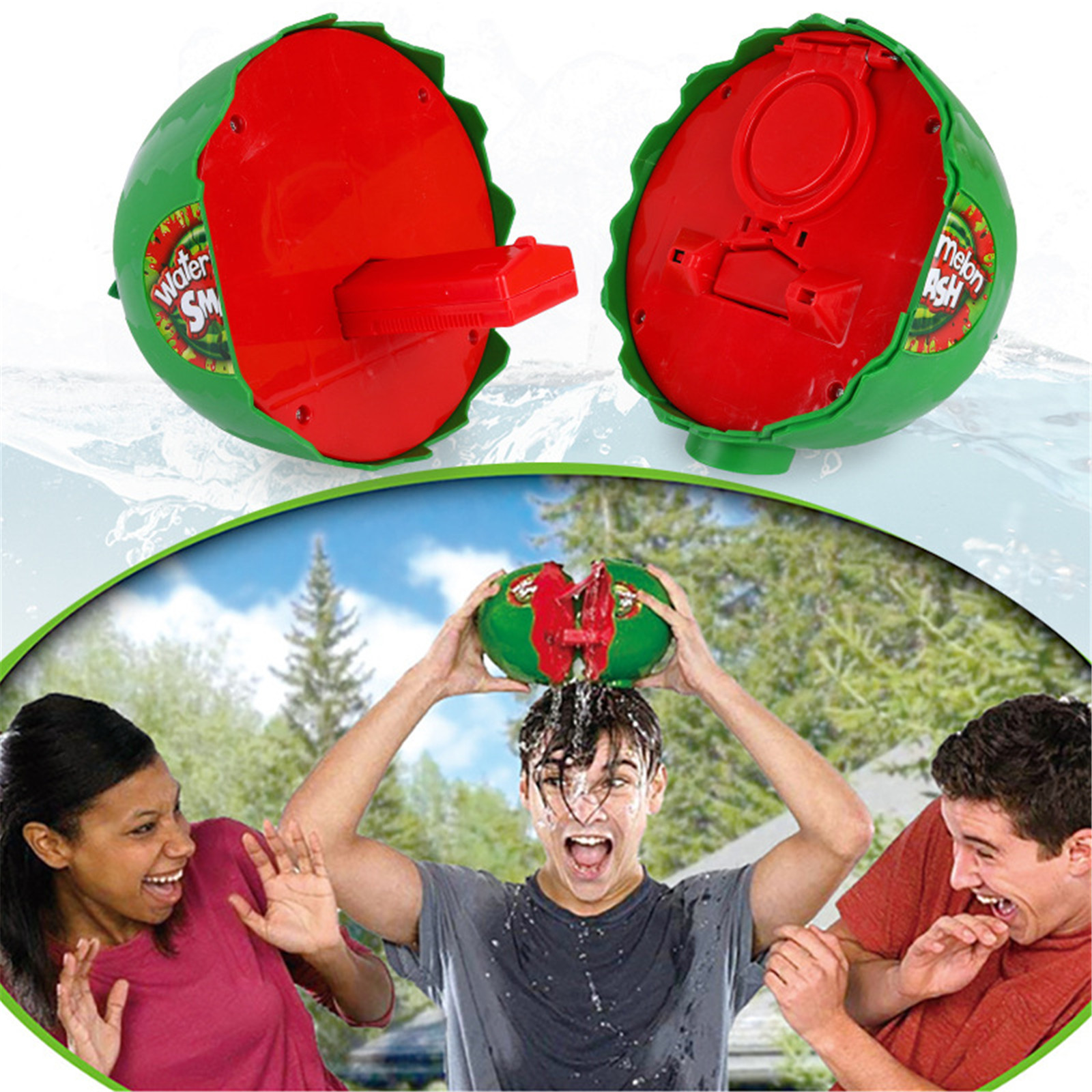 Watermelon Suspenseful Game Toys Watermelon Cracks Prank Antistress Fidget Toy Funny Jokes Children's Toy Guesswrong Leaking
