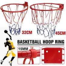Баскетбольное кольцо, стальная обруч с винтами, для детей и взрослых, для спорта на открытом воздухе и в помещении, 32 см/45 см