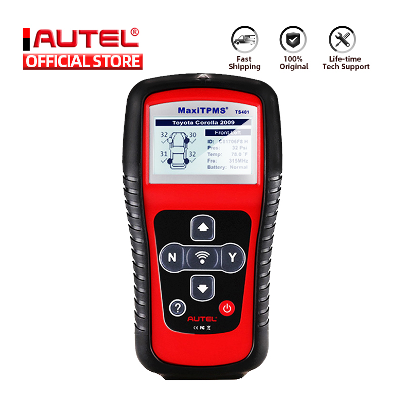 Autel MaxiTPMS TS401 система мониторинга давления в шинах OBD2 TPMS диагностический сканер инструмент активирует 315 433 МГц Программирование датчика