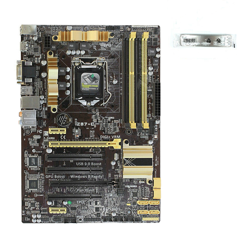 FOR ASUS Z87-C desktop motherboard Z87 DDR3 <font><b>LGA</b></font> <font><b>1150</b></font> <font><b>i7</b></font> i5 i3 DDR3 32G SATA3 UBS3.0 used motherboard 100% tested intact image