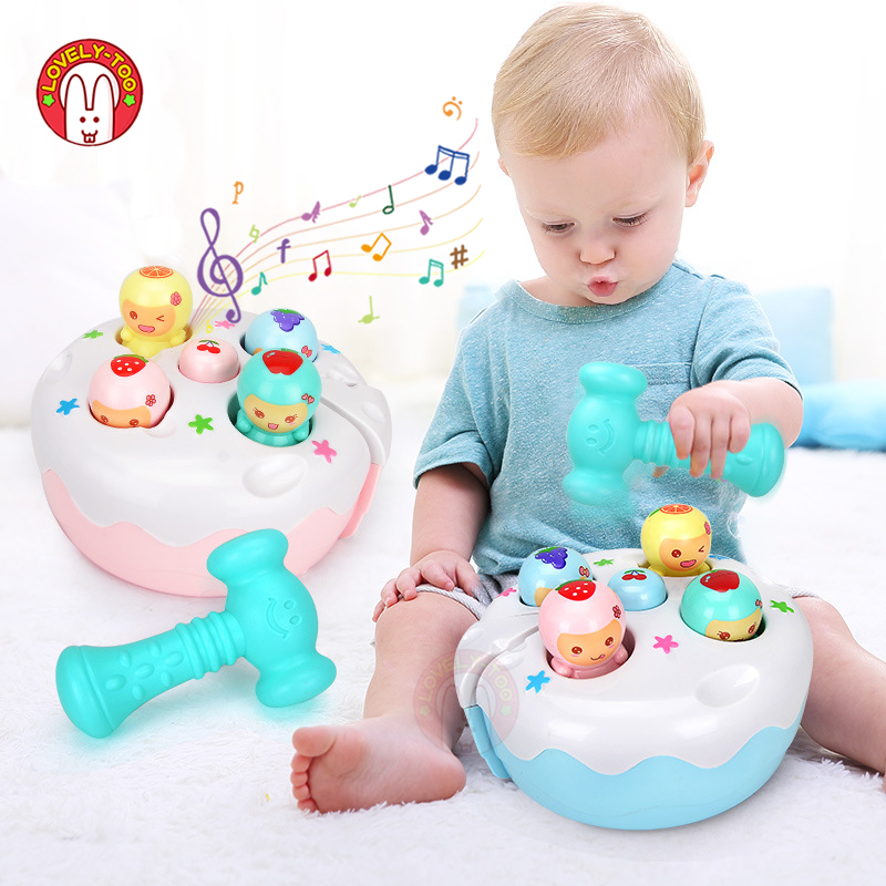 Baby Hammer Toy Kids Music Noise Maker Parent-child Interactive Toys Children Early Learning Educational Game For 1 Year Old image