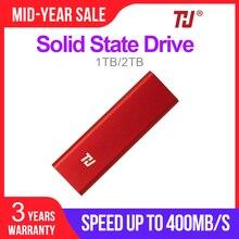 THU SSD خارجي USB3.1 SSD 128GB المحمولة SSD HDD 256GB 512GB 1 تيرا بايت 400 برميل/الثانية الحالة الصلبة محرك أقراص الكمبيوتر المحمول