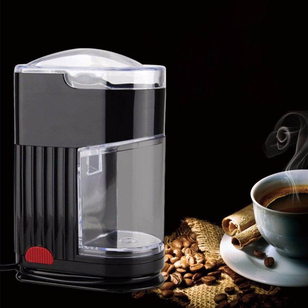 220V Haushalt Elektrische Kaffeemühle Edelstahl Klinge Bean Spice Maker Schleifen Maschine Schnelle Autonmatic Kaffee Mühle