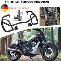 Motorcycle Black Engine Guard Crash Bar Frame Protector For Honda Rebel CMX 500 2017 2018 2019 2020 CMX500 Accessories Parts