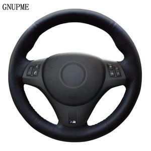 Image 1 - רכב הגה כיסוי שחור עור מלאכותי עבור BMW M ספורט M3 E90 E91 (סיור) e92 E93 E87 E81 E82 (קופה) E88 X1 E84