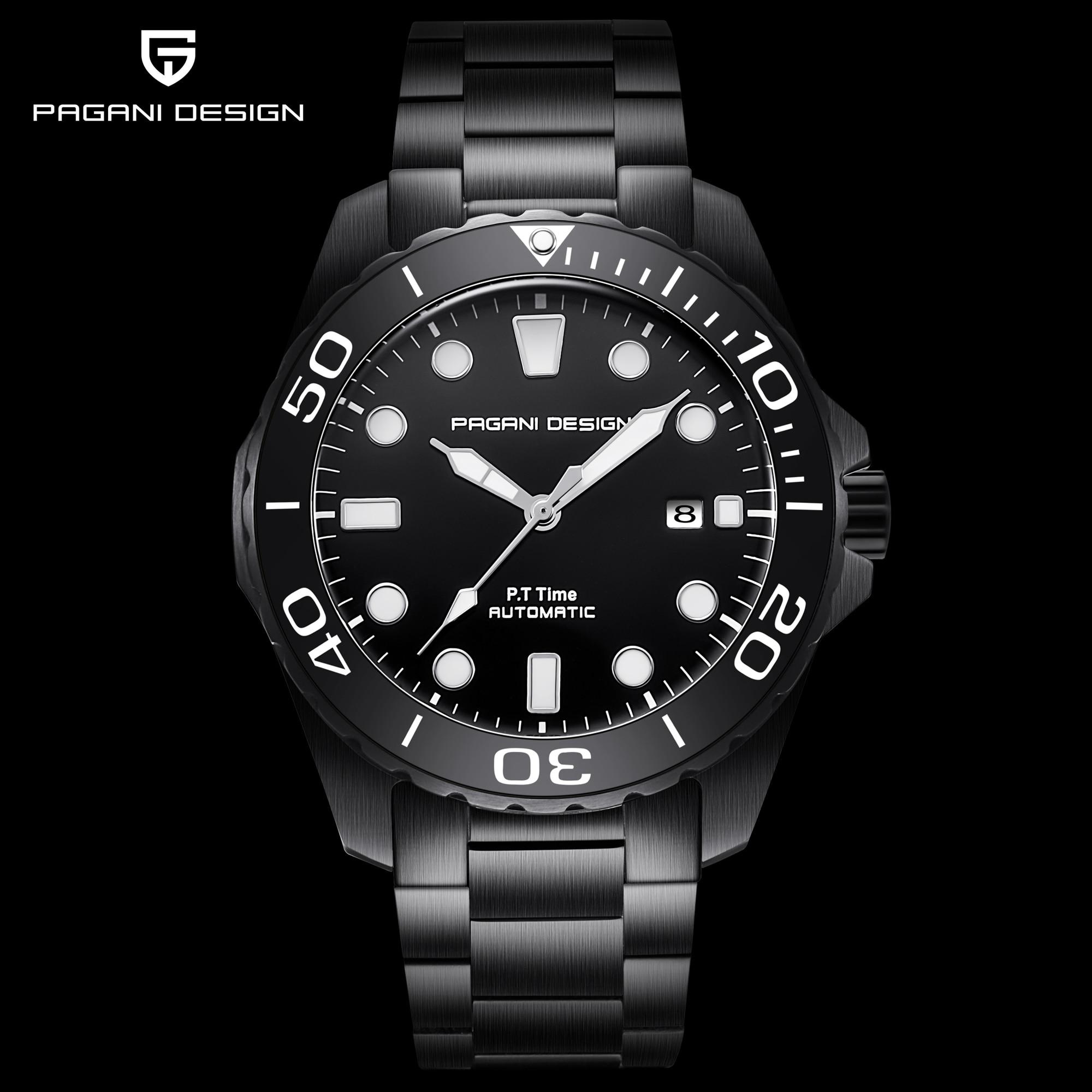 PAGANI DESIGN 2019 nouveau Sport affaires en acier inoxydable hommes montres marque de luxe hommes mode mécanique montre-bracelet livraison directe