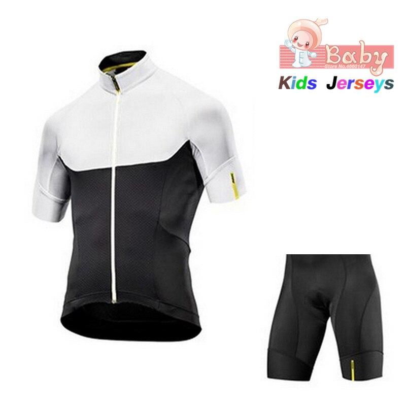 Spor ve Eğlence'ten Bisiklet Takımları'de Mavic çocuklar 2019 takım bisiklet giyim seti çocuk bisikleti forması seti anti ter Ropa Ciclismo erkek Pro bisiklet giyim MTB giyim