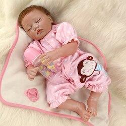 50 Cm ZIYIUI réaliste Reborn poupées fille réaliste doux Silicone vinyle tissu corps fermé yeux Simulation dormir bébés jouet poupée