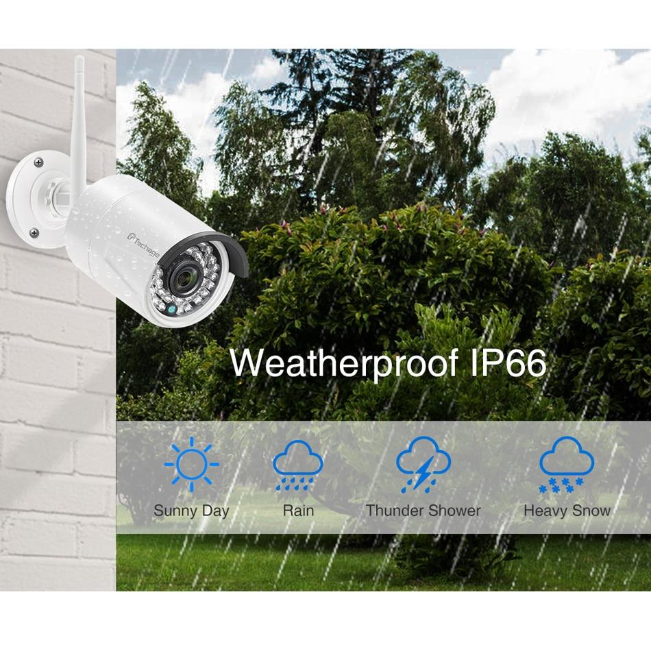 Techage 4CH 1080P Drahtlose Wifi Kamera System 2mp Audio Record CCTV Kamera Wasserdichte Outdoor P2P Nachtsicht Überwachung Kit