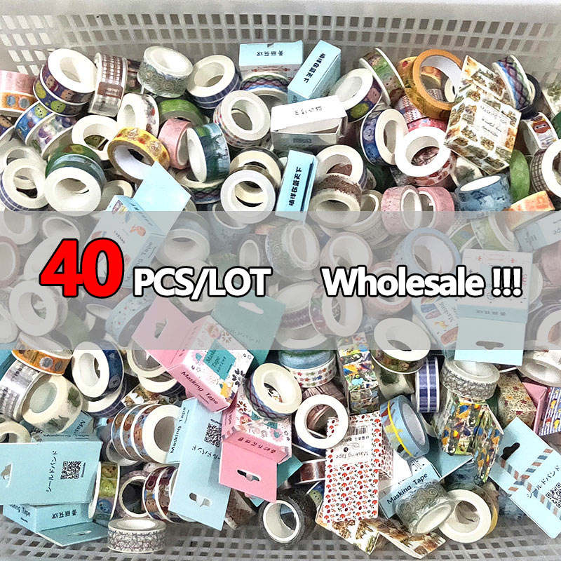 Washi Tapes Stationery Masking-Adhesive-Tape Scrapbooking Diary School-Supplies Kawaii Stickers