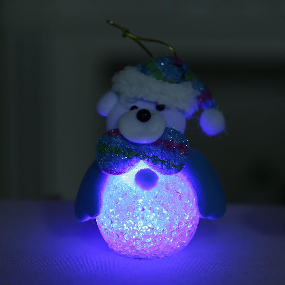 Cute Glowing Night Light Christmas Tree Hanging Decoration Festive Party Supplies Christmas Decoration in Party DIY Decorations from Home Garden