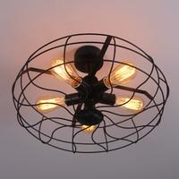 Vintage 5Heads Iron Pendant Light Retro Industrial Fan Lights Ceiling American Country Kitchen Loft LED light E27 Bulbs lamparas