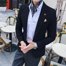 2019 autumn Men's Plaid Blazer Fashion Business Ca