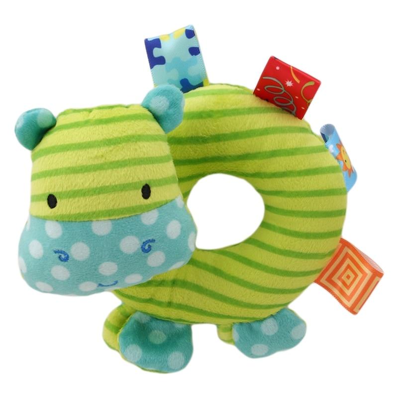 Kids Baby Animal Handbells Musical Developmental Toy Bed Bells Rattle Gift Baby Hand Grip Rod Toys BB Stick Hand Bell Toy