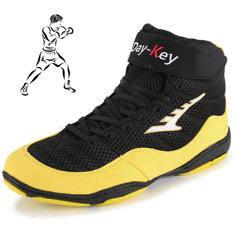 Men Professional Boxing Wrestling Shoe Fighting Weightlifting Shoes Bodybuilding Gym Sport Sneaker Athletic Training Boxing Boot